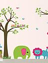 Animaux Stickers muraux Autocollants avion Autocollants muraux décoratifs Matériel Lavable Amovible Décoration d'intérieur Calque Mural