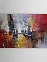 Peint à la main Abstrait Horizontale,Traditionnel Un Panneau Toile Peinture à l'huile Hang-peint For Décoration d'intérieur