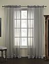 twopages® polyester de bande voilages modernes drape deux panneaux