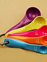 5 pièces en plastique coloré de mesure Set Spoon
