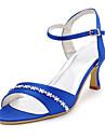 Satin de nunta ocazie Stiletto Heel Pompe toci și sandale (mai multe culori)