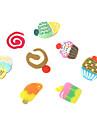 12 Färger 3D Fimo Slice Cake nagel konst Dekoration
