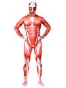 Inspirerad av Attack on Titan Bertolt Huber Animé Cosplay-kostymer cosplay Suits Lappverk Tryck Röd Trikå För Man