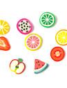 Tranche de 3D FIMO Cartoon Fresh Fruit visage Nail Art Decorations