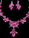 Set bijuterii Pentru femei Zi de Naștere / Cadou / Petrecere / Ocazie specială Set Bijuterii Aliaj Ștras Coliere / Σκουλαρίκια Ca în Poză