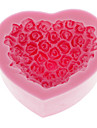 Rose Heart Shape Silicone Mold Bakning Mould