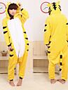 Kigurumi Pyjamas Tiger Leotard/Onesie Halloween Animal Sovplagg Gul Lappverk Korallfleece Kigurumi Unisex Halloween