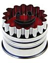 leende form kakmått trycker form kex Utsmyckning verktyg (slumpvis färg)
