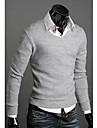 DAYD Fashion Brittisk stil Vintage Slim Bomull Kintted tröja (grå)