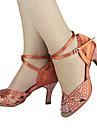 Chaussures de dansePersonnalisables-Talon Personnalisé-Satin-Latine Salon