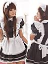 Cosplay Kostymer/Dräkter Festklädsel Piguniform Karriär Dräkter Festival/högtid Halloweenkostymer Vit svart LappverkKlänning Huvudbonad