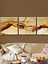 Sträck Människor Konst på kanvas Detta kallas kärlek Set av 3