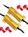 50W 6Ohm belastningsresistorer för LED-lampor blinkers eller License Lights Plate (Fix Hyper Flash, Varning Cancellor)