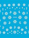 5PCS färgrik Vit Nail Art klistermärken Snow Series tecknad