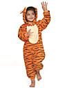 kigurumi Pyjamas Tiger Collant/Combinaison Fête / Célébration Pyjamas Animale Halloween Orange Mosaïque Flanelle Kigurumi Pour Enfant