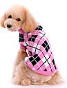 Câini Pulovere Roz Îmbrăcăminte Câini Iarnă / Primăvara/toamnă Tartan/Carouri Drăguț / Keep Warm