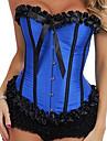 de bună calitate din plastic satin dezosată corset si g-string set sexy lenjerie formator