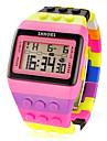 pentru Doamne Ceas Sport Ceas digital LCD Calendar Cronograf alarmă Piloane de Menținut Carnea Plastic Bandă Multicolor
