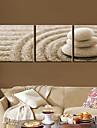 Toiles tendues Art Still Life Cobblestone Set de 3