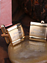 Cadouri personalizate de aur Squared Butoni gravate