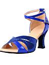 Le similicuir de femmes personnalisés avec paillettes scintillantes chaussures de danse latine (plus de couleurs)