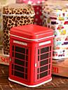 Cuboid tecknad Tin Box Desktop Storage Box (slumpvis färg)