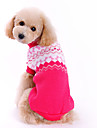 Hundar Tröjor Ros Hundkläder Vinter Vår/Höst Rosett Gulligt Mode