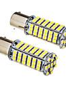 2 st 1156 BA15s 5W 102x3528SMD 420-450LM 6000K Cool White Light LED Bulb (12V)