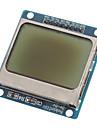"""(Pour Arduino) compatible 1.6 """"nokia 5110 lcd module avec rétroéclairage bleu"""