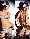 Séduisante jeune fille blanche tergal Bikini ménage uniforme