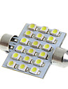 39mm 18 1210 SMD LED Vit Car Interior Dome Festoon ljus lampa Bulb