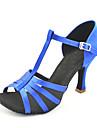 anpassade två ton satin T-Strap dansföreställning skor (fler färger)