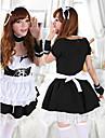 Söt flicka Svart och Vit Polyester Maid Uniform