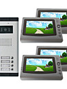 Infrared Video Door Phone System (4 LCD Screens, Easy Installation)