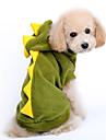 Hundar Dräkter/Kostymer / Huvtröjor Röd / Grön Hundkläder Vinter / Vår/Höst Tecknat Gulligt / Cosplay