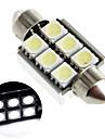37mm 6 5050 SMD LED Canbus Intérieur dôme de voiture blanche de feston ampoule de lampe