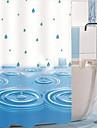 """Rideau de douche Blue Water Imprimer W71 x L71 """"avec des crochets en métal"""