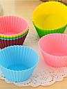 Silicon Cupcake Împachetatoare - Set de 12 (aleatoare culori)