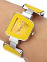 pentru Doamne Ceas La Modă Ceas Brățară Quartz Aliaj Bandă Brățară rigidă Elegant Yellow Galben