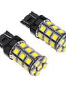 Ampoule pour voiture (12V) 2pcs T20 7443 27x5050SMD 100-250LM LED à lumière blanche