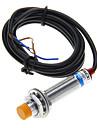 LJ12A3-4-Z/BX induktiv givare - Svart + Silver (DC 6 ~ 36V / 100cm-kabel)