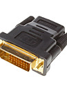 DVI 24 +1 mâle vers HDMI V1.3 Femme adaptateur convertisseur HDTV