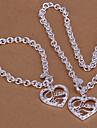 placate cu argint colier cu lanț indesata& Set de bijuterii brățară