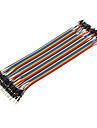 40pin 1P-1P hane till hane Dupont Linje Colorful Dupont Wire (20cm)