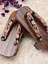Chaussures Wa Lolita Semelle compensée Chaussures Fleur 3 CM Marron Pour Femme Coton / Bois