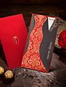 """Șal & Buzunar Invitatii de nunta 50-Invitații Stil Mire & Mireasă Hârtie cărți de masă 8 ½""""×4 ½"""" (21.5*11.5cm)"""
