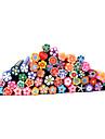 20st Söt 3D blommor Nail Art FIMO Canes Rods Decoration