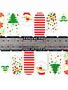 yemannvyou®1x14pcs 1-mönster loverly tecknade jul mönster med full täckning spik klistermärken