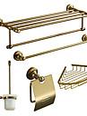 Bath Accessory Set, Antiquités 5 pièces d'or Anodisation aluminium Set Hardware