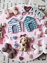 Cute Dog Toy Silicone Mold Fondant Formar Sugar Craft Verktyg Choklad Mould För Cakes